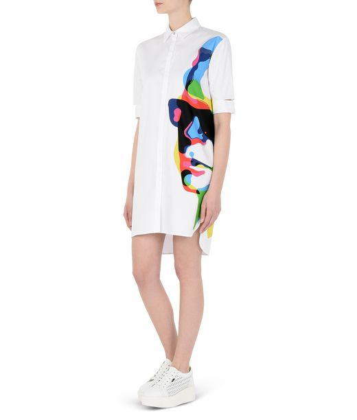 KARL LAGERFELD Printed Poplin Shirt Dress 12_f