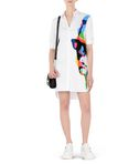 KARL LAGERFELD Printed Poplin Shirt Dress 8_d