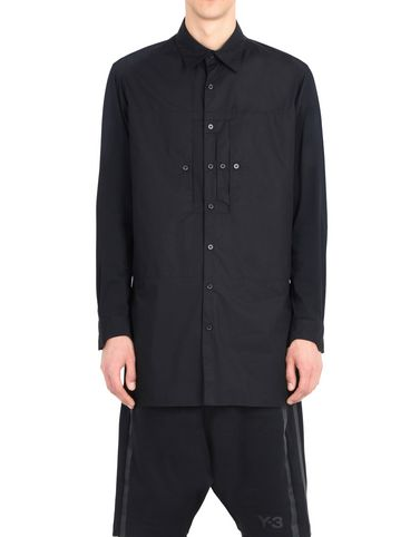 Y-3 COTTON DOUBLE POCKET SHIRT シャツ メンズ Y-3 adidas