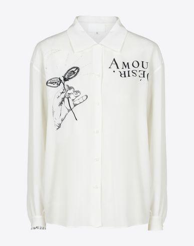 MAISON MARGIELA Long sleeve shirt D Embroidered silk blouse f