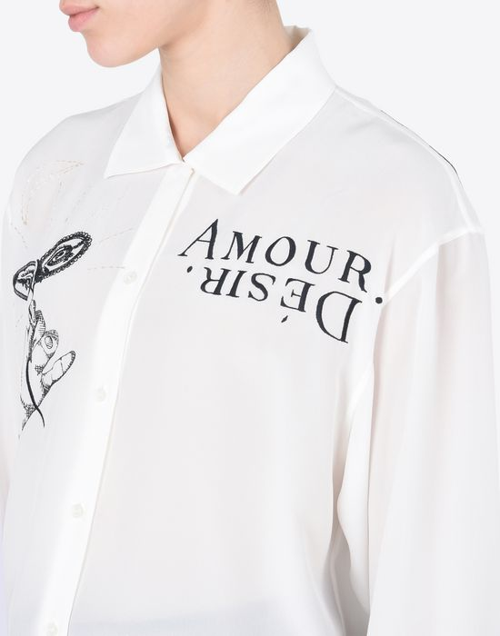 MAISON MARGIELA Embroidered silk blouse Long sleeve shirt Woman b