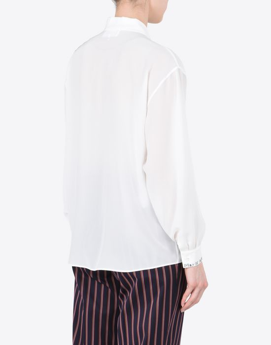 MAISON MARGIELA Embroidered silk blouse Long sleeve shirt Woman e