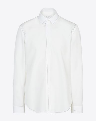 MAISON MARGIELA 14 Long sleeve shirt U Calico topstitched shirt f