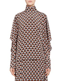 Marni Silk blouse Portrait print Woman