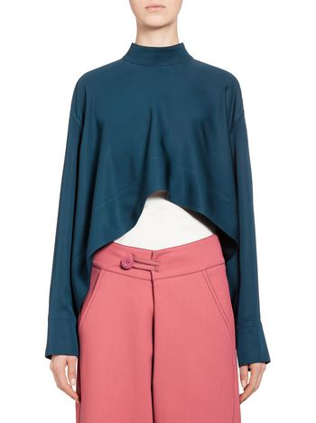 Marni Nehru-neck blouse in viscose Woman