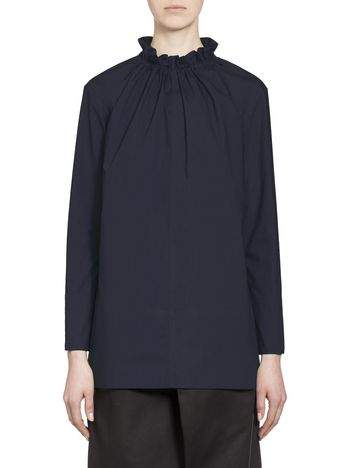 Marni Cotton blouse puckered crewneck Woman