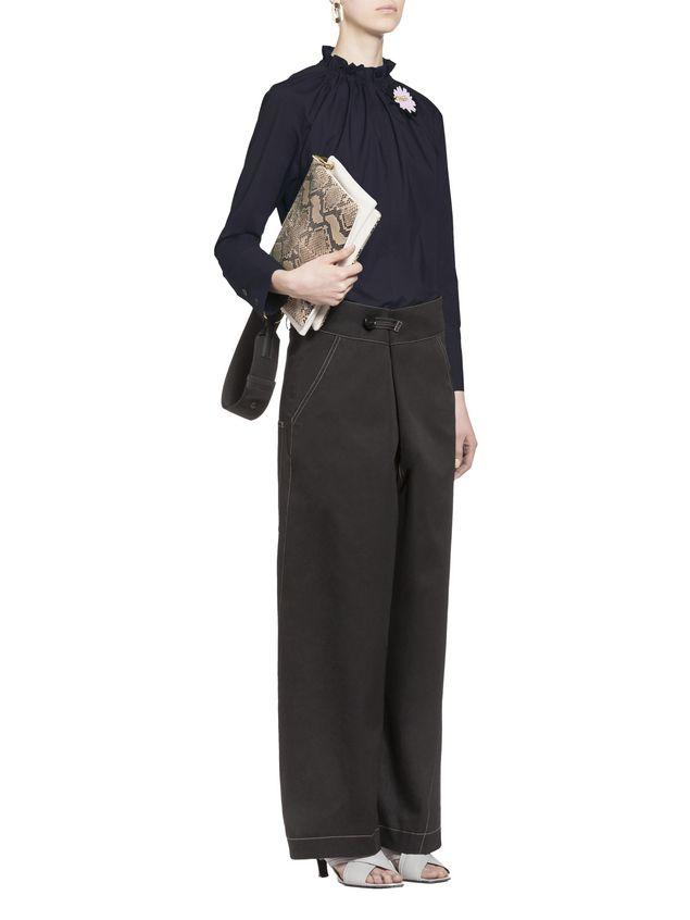 Marni Cotton blouse puckered crewneck Woman - 5