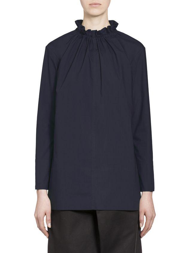 Marni Cotton blouse puckered crewneck Woman - 1