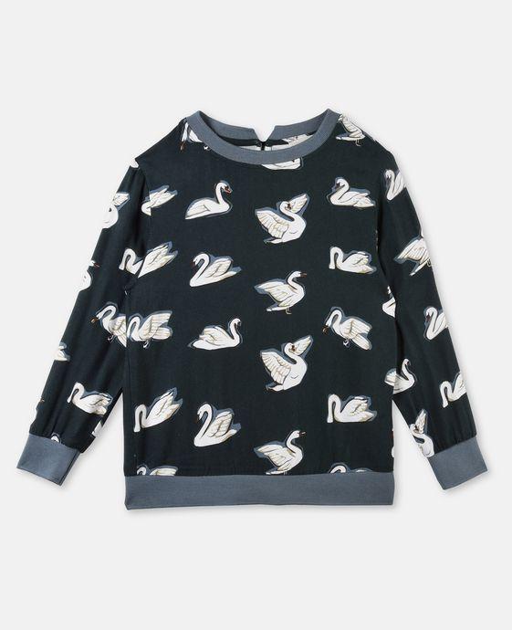 STELLA McCARTNEY KIDS Irma Swan Print Top Blouses & Shirts D c