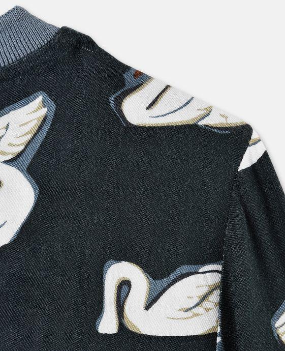 STELLA McCARTNEY KIDS Irma Swan Print Top Blouses & Shirts D g