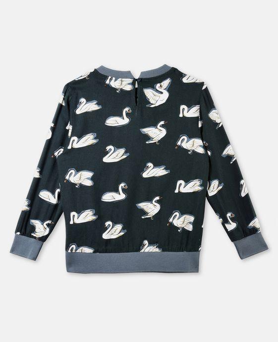 STELLA McCARTNEY KIDS Irma Swan Print Top Blouses & Shirts D i