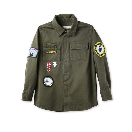 Khaki Badges Shirt
