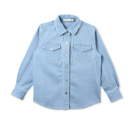 Dallas Denim Shirt with Star Patches