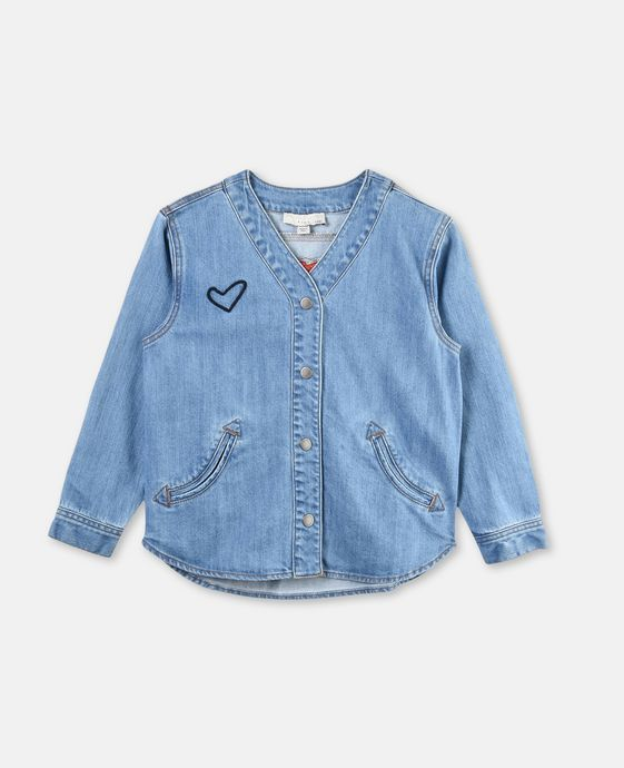 Smoothie Denim Heart Shirt