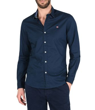NAPAPIJRI GABES MAN LONG SLEEVE SHIRT,DARK BLUE