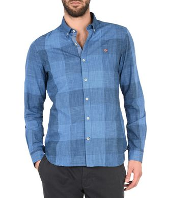 NAPAPIJRI GIFFRE MAN LONG SLEEVE SHIRT,BLUE