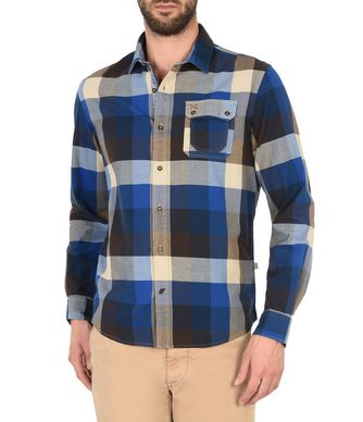 NAPAPIJRI GRALBA MAN LONG SLEEVE SHIRT,DARK BLUE