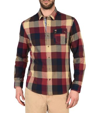 NAPAPIJRI GRALBA MAN LONG SLEEVE SHIRT,MAROON