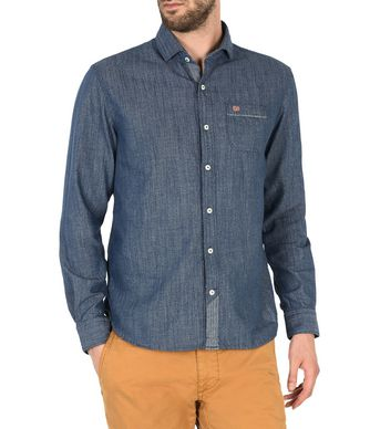 NAPAPIJRI GRAYLING MAN LONG SLEEVE SHIRT,DARK BLUE