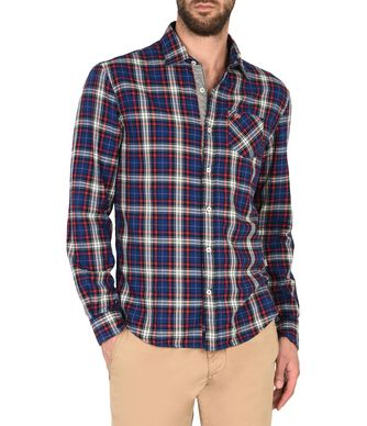 NAPAPIJRI GREYLOCK MAN LONG SLEEVE SHIRT,BLUE