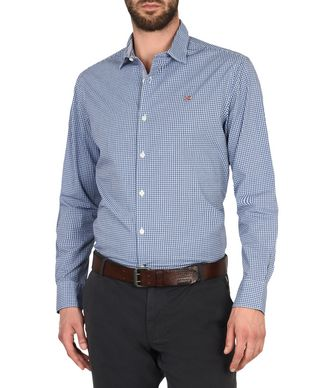 NAPAPIJRI GABELL LONG BACK MAN SHIRT,BLUE