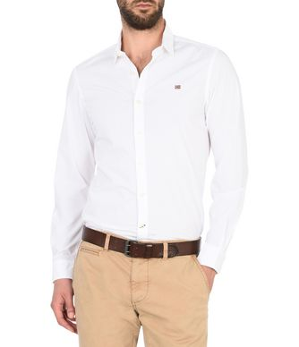 NAPAPIJRI GELEEN STRETCH MAN LONG SLEEVE SHIRT,WHITE