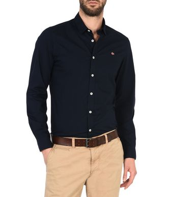 NAPAPIJRI GELEEN STRETCH MAN LONG SLEEVE SHIRT,DARK BLUE