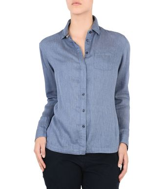 NAPAPIJRI GIESS WOMAN LONG SLEEVE SHIRT,SLATE BLUE