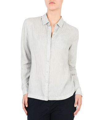 NAPAPIJRI GIESS WOMAN LONG SLEEVE SHIRT,GREY