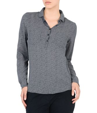 NAPAPIJRI GIACI WOMAN LONG SLEEVE SHIRT,DARK BLUE
