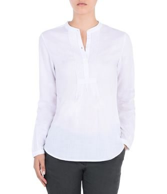 NAPAPIJRI GLERY WOMAN LONG SLEEVE SHIRT,WHITE