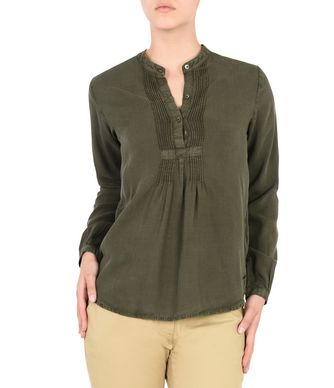 NAPAPIJRI GLERY WOMAN LONG SLEEVE SHIRT,MILITARY GREEN