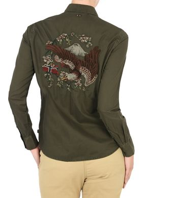 NAPAPIJRI GEAGLE WOMAN LONG SLEEVE SHIRT,MILITARY GREEN