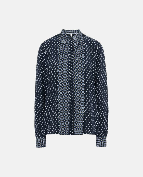 Angla Tie Print Silk Shirt