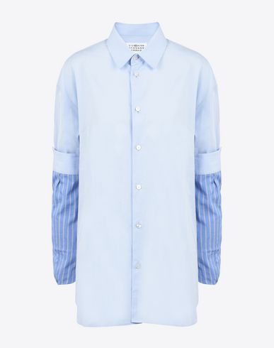 MAISON MARGIELA 4 Shirt with contrasting sleeves Long sleeve shirt D f