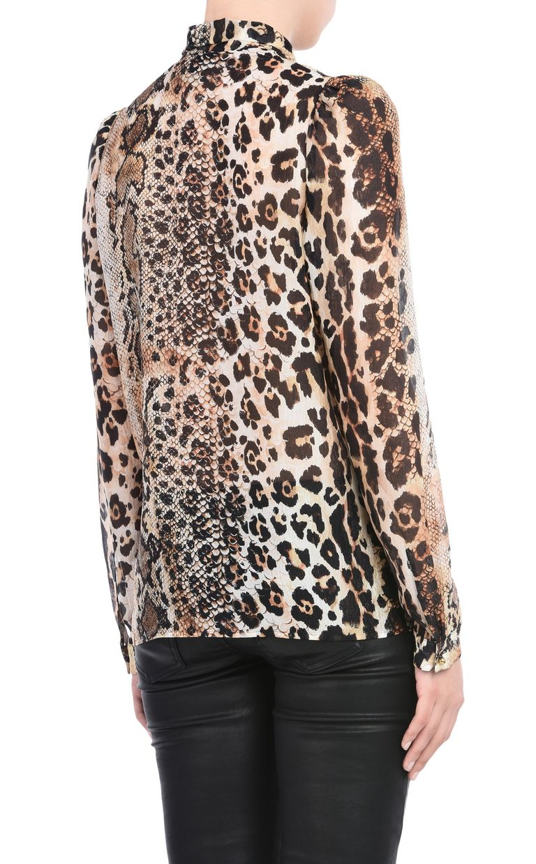 JUST CAVALLI Shirt with a bow around the neckline Long sleeve shirt Woman d