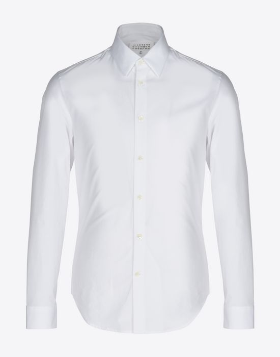 MAISON MARGIELA Slim fit cotton poplin shirt Long sleeve shirt [*** pickupInStoreShippingNotGuaranteed_info ***] f
