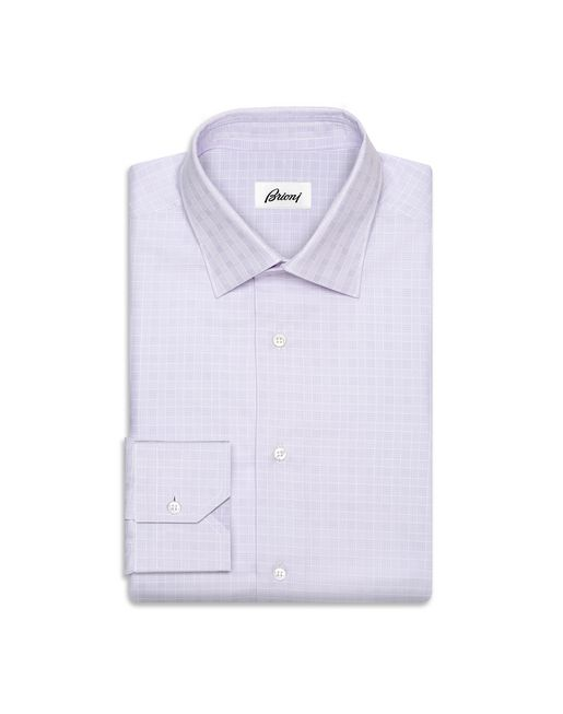 BRIONI Formal shirt U Liliac Subtle Check Shirt   f
