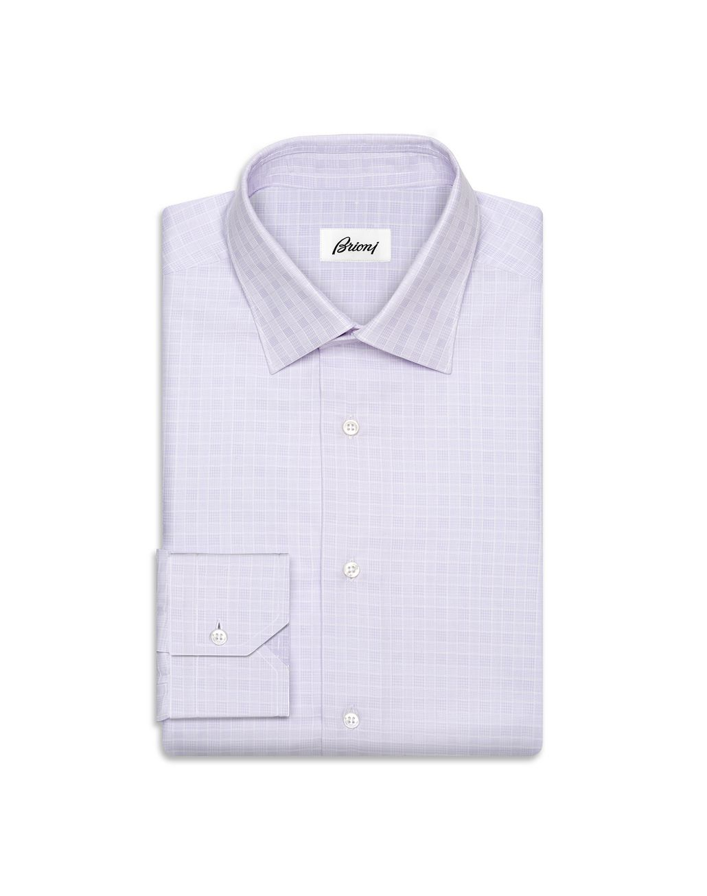 BRIONI Liliac Subtle Check Shirt   Formal shirt Man f
