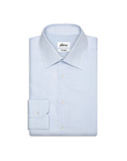 BRIONI Formal shirt U Light Blue and White Striped Shirt f