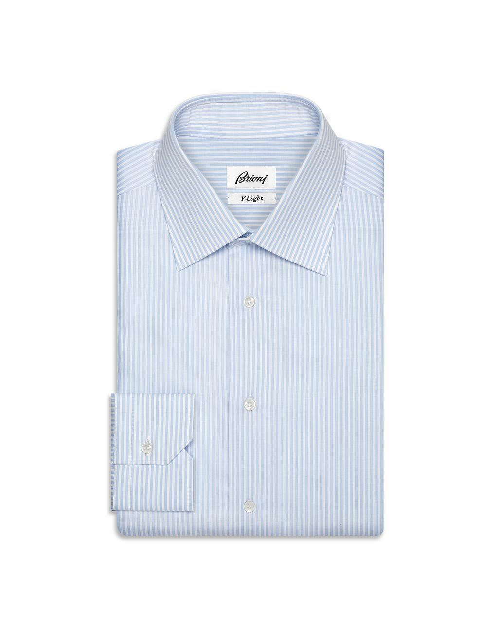 BRIONI Light Blue and White Striped Shirt Formal shirt U f