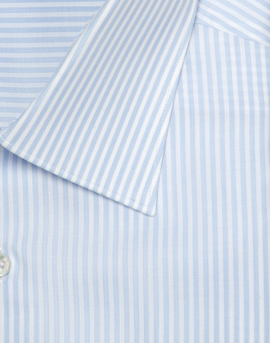 BRIONI Light Blue and White Striped Shirt Formal shirt Man r
