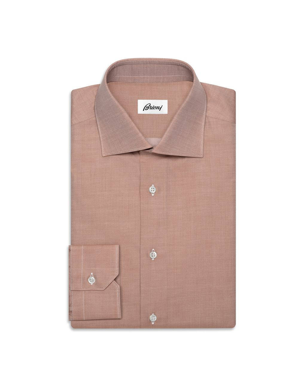 BRIONI Camicia in Twill Color Whisky   Camicie formali U f