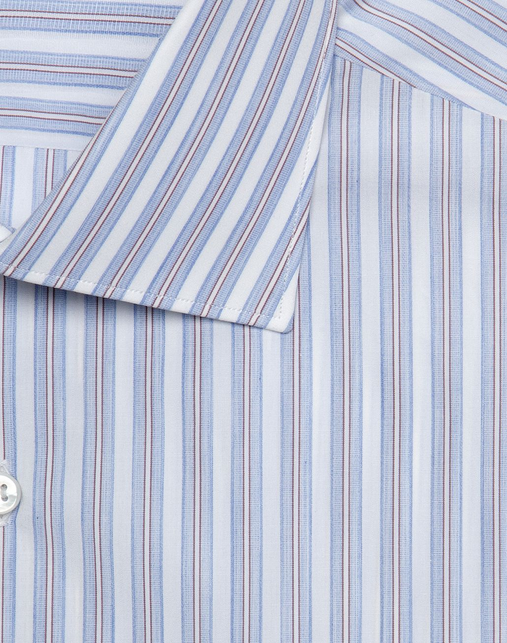 BRIONI Whiskey and Light Blue Striped Comfort Shirt   Formal shirt Man r