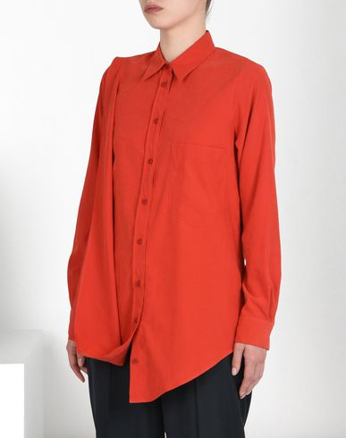 MM6 by MAISON MARGIELA Long sleeve shirt D Asymmetric microfiber shirt f