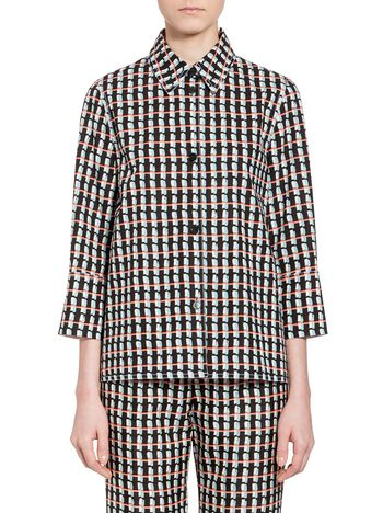 Marni Shirt in poplin with Ripple print Woman