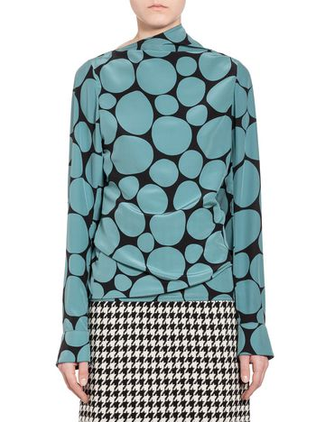 Marni Shirt in silk crepe with Pebble print Woman
