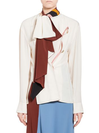 Marni Shirt in washed silk acetate Woman