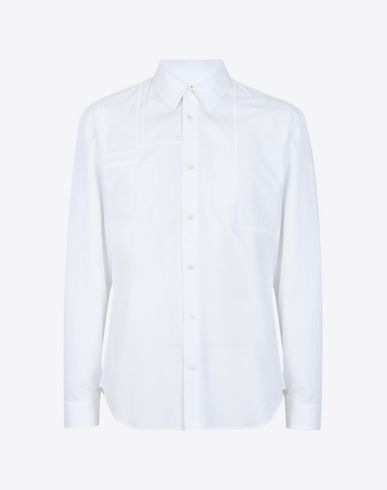 MAISON MARGIELA 10 Long sleeve shirt U Cotton poplin shirt with shoulder patches f