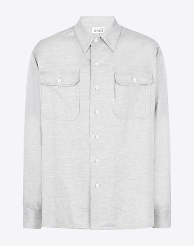 MAISON MARGIELA 14 Long sleeve shirt U Flannel twill shirt f